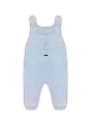 By Leyal For Kids Mevsimlik Triko Uzun Salopet Ve Yakalı Uk Body-4007 Mavi